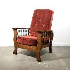 Mission Oak Rocking Chair Antique Morris Chair Carved Arts U0026 Crafts Recliner Mission Oak