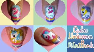 cute unicorn nails tutorial contest entry for creative nail art