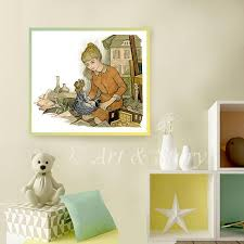 chambre bebe vintage print of vintage watercolor painting baby s nursery room