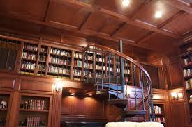 turning a loft into a library salter spiral stair