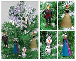 disney frozen tree ornament set featuring elsa
