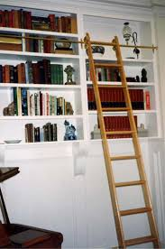 Library Bookcases With Ladder Specialty Ladder Library Ladders