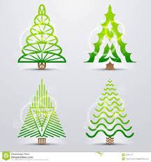 stylized symbols of christmas tree royalty free stock photography