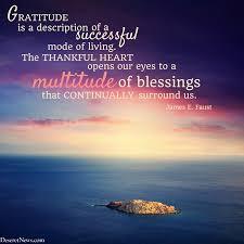 president e faust gratitude is a description of a