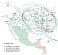 Alaska Air Map by Frontier Airlines World Airline News