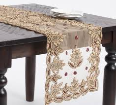 hand beaded table runners elegant hand beaded rectangular table runner www fenncostyles com