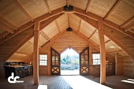 Barn Style Home Plans Custom Timber Frame Barn With Living Quarters In Sandy Oregon