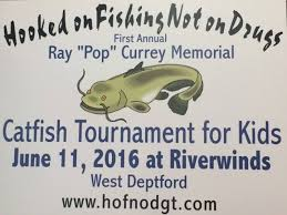 hooked on fishing not on drugs tournament honors pop currey