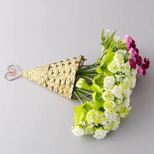 fake flowers for home decor new handmade sector wall hanging basket craft fake flower vase