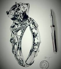 diamond ring sketch by abhisketches on deviantart