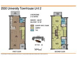 two bedroom townhouse 2550 university