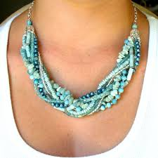 diy necklace bead images Beaded necklace seafoam multi strand beaded necklace with jpg