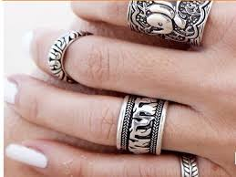 hand jewelry rings images Gypsy retro boho carved pattens finger ring elephant antique jpg