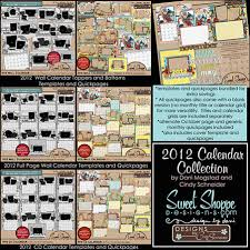 custom calendars the digi scrapping way