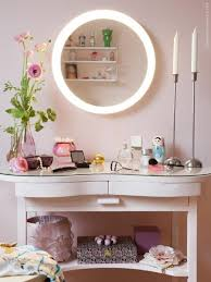 storjorm mirror with built in light white applying makeup