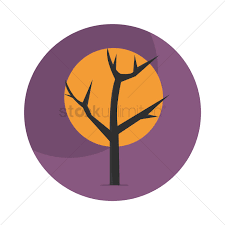 orange halloween tree halloween tree vector image 1486728 stockunlimited
