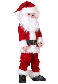 santa costumes toddler deluxe santa costume