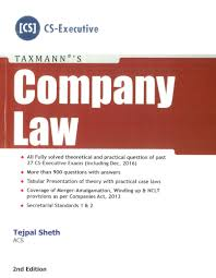 taxmann for cs executive company law by tejpal sheth applicable