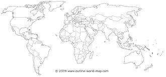 World Map Silhouette Popular 153 List World Map Outline