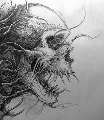 evil skull drawing drawing ideas drawings