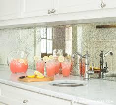 Mirrored Kitchen Backsplash Contemporary Kitchen Andrea May - Mirrored backsplash