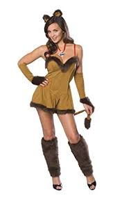 Wizard Oz Halloween Costumes Adults Amazon Wizard Oz Cowardly Lioness Costume Clothing