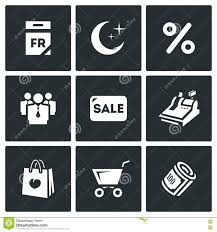black friday luggage sets deals vector set of black friday icons calendar night discount