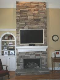 fireplace simple light colored stone fireplace decorations ideas