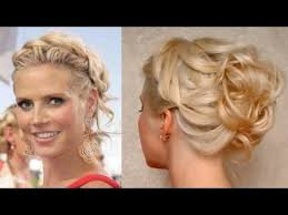 Hochsteckfrisurenen Selber Machen F Mittellange Haar by Prom Hairstyle For Medium Hair Curly Updo Heidi Klum
