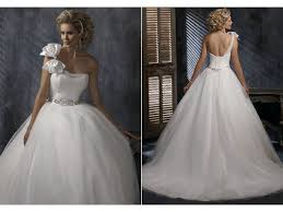 one shoulder wedding dresses 2011 one shoulder ballgown wedding dress with corset bodice