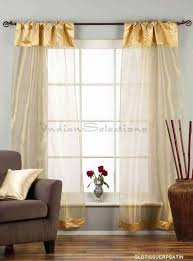 3 Inch Rod Pocket Sheer Curtains Golden Rod Pocket W Attached Beaded Valance Sheer Tissue Curtains