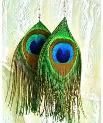 feather earrings online india earrings buy trendy peacock feather earring online at via mazzini