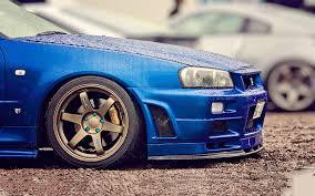 nissan blue nissan skyline gt r blue car 6940028