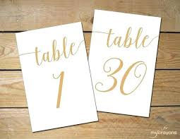 gold wedding table numbers table numbers instant download printable table numbers 1 script