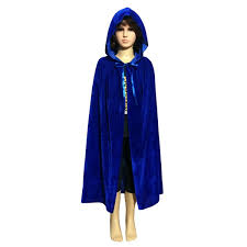 Halloween Costume Cape Children Hooded Long Velvet Cloak Halloween Fancy Cape Robe