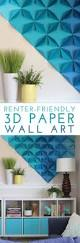Wall Art by Best 25 3d Wall Art Ideas On Pinterest Paper Wall Art Paper
