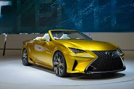 lexus yellow lexus lf c2 convertible is doa 3 row crossover coming instead
