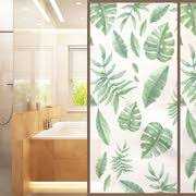 Bathroom Door Stickers Leaf Frosted Pvc Glass Stickers Bedroom Bathroom Door Stickers