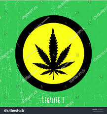 Green Yellow And Black Flag Black Cannabis Leaf Yellow Circle Text Stock Vector 451748071