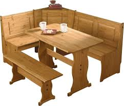 natural polished maple wood corner table set and bench for sining
