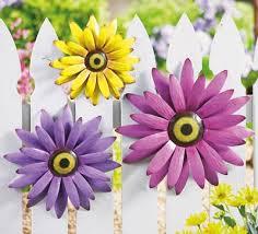 metal flower garden wall or fence decorations gardens u0026 garden
