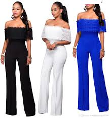 dressy rompers and jumpsuits 2017 arrivel black white wide leg jumpsuits