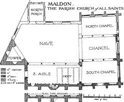 All Saints Church Floor Plans by Maldon All Saints History