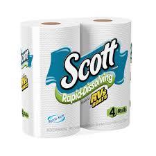 scott toilet paper rapid dissolve 4 rolls walmart com