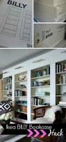 ikea billy bookcase library wall u003e u003e u003e getting that built in feeling