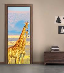 wall decals stickers home decor home furniture diy giraffes safari animals door wrap decal sticker wall mural personalized name d53