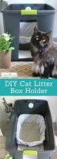diy cat litter box holder easy way to hide kitty litter