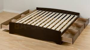 bed frames king size storage bed plans bed with storage