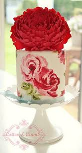 wedding cakes handpainted cake 2047678 weddbook