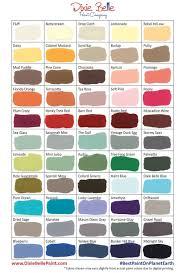 dixie belle paint chalk and mineral paint color chart 2017
